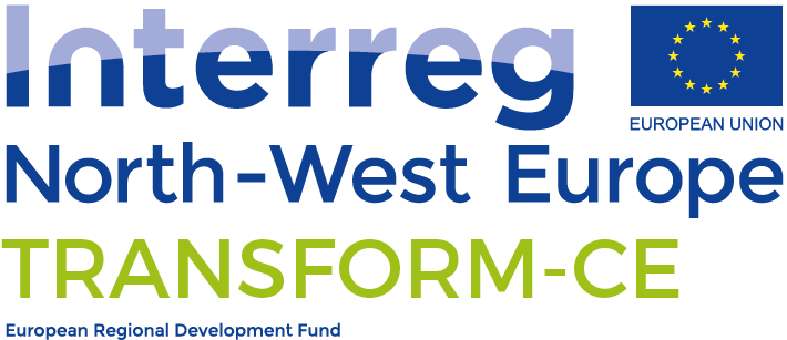 EU Logo Interreg North-West Europe Transform-CE