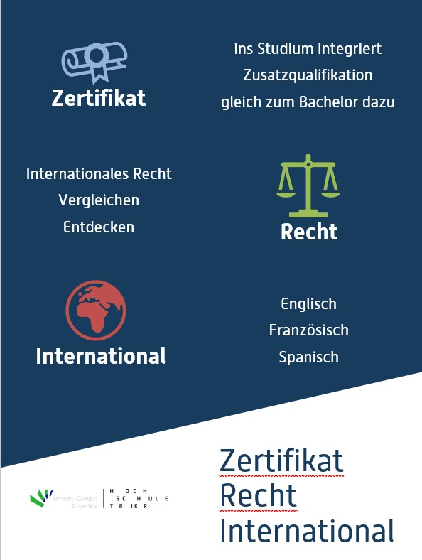 Zertifikat Recht International