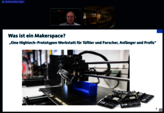 Screenshot aus dem virtuellen Makerspace